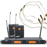 LD Systems LDWS 1000BPHH2X Wireless Microphone System with 2 x Belt Pack and 2 x Headset skin-coloured (X-Version)