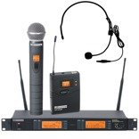 LD Systems LDWS 1000HBH2X Wireless Microphone System with Dynamic Handheld Microphone and Headset (X-Version)