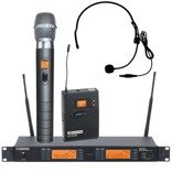 LD Systems LDWS 1000HBHC2 Wireless Microphone System with Dynamic Handheld and Headset Microphone